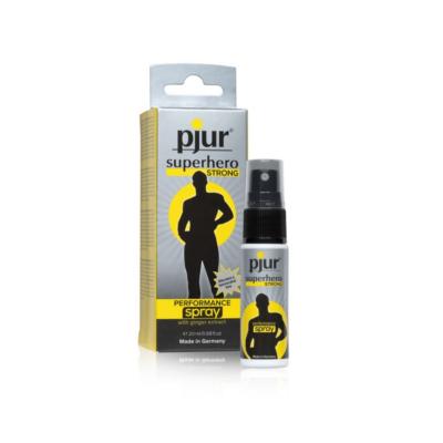 gel retardant éjaculation en spray strong superhero marque Pjur